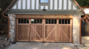 Shavano Park Wood Garage Door